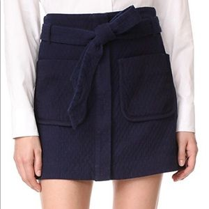 Rag and Bone quilted mini skirt